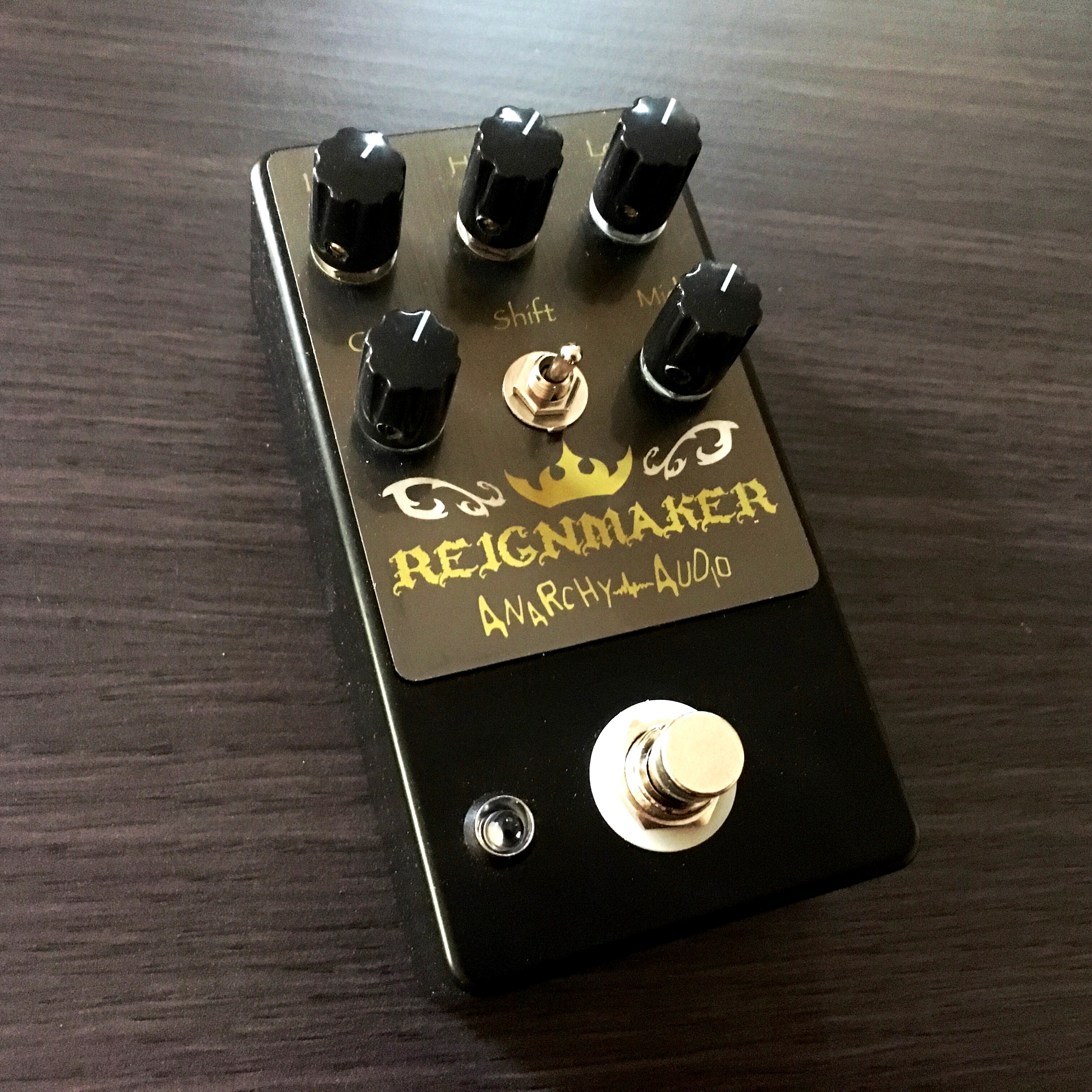 anarchy audio reignmaker high gain distortion overdrive pedal peerless music. Black Bedroom Furniture Sets. Home Design Ideas